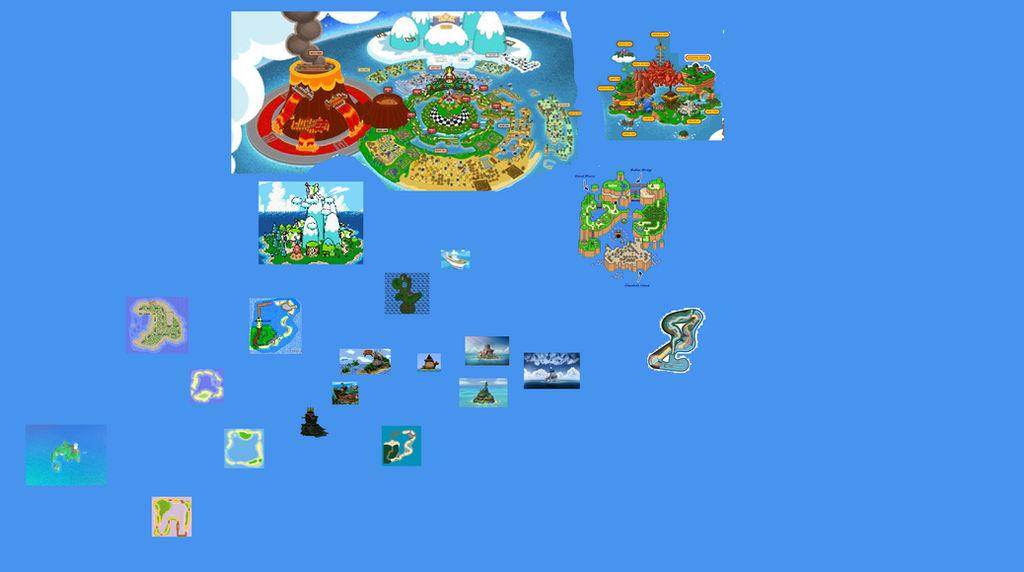 Mushroom World Map.Mushroom Kingdom World Map By Razorsedgem7 On Deviantart