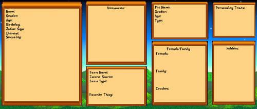 Stardew Valley OC Character Sheet Template by RazorsEdgeM7