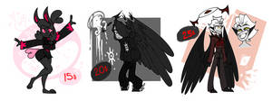 Adoptable Batch #8 || Inky Theme (OPEN!!) by Mythical-Things