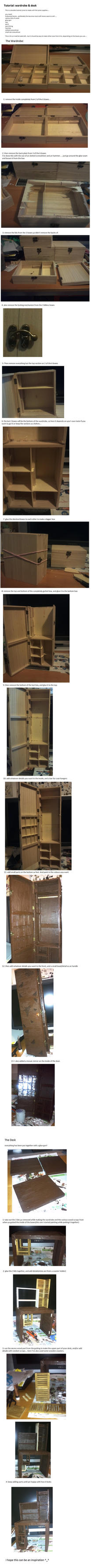 Tutorial: Doll Wardrobe and Desk by Eendogenisis