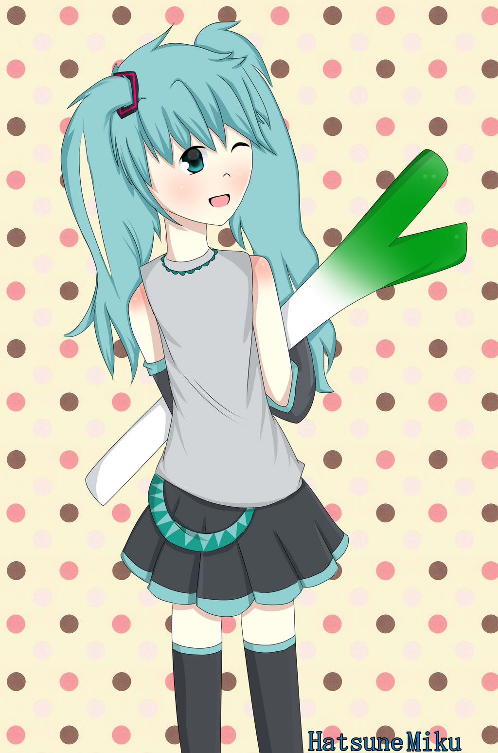 Hatsune Miku by hungry4ramen