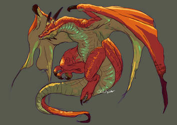 Breath Of Fire 4 - Wyvern Dragon by buckatone