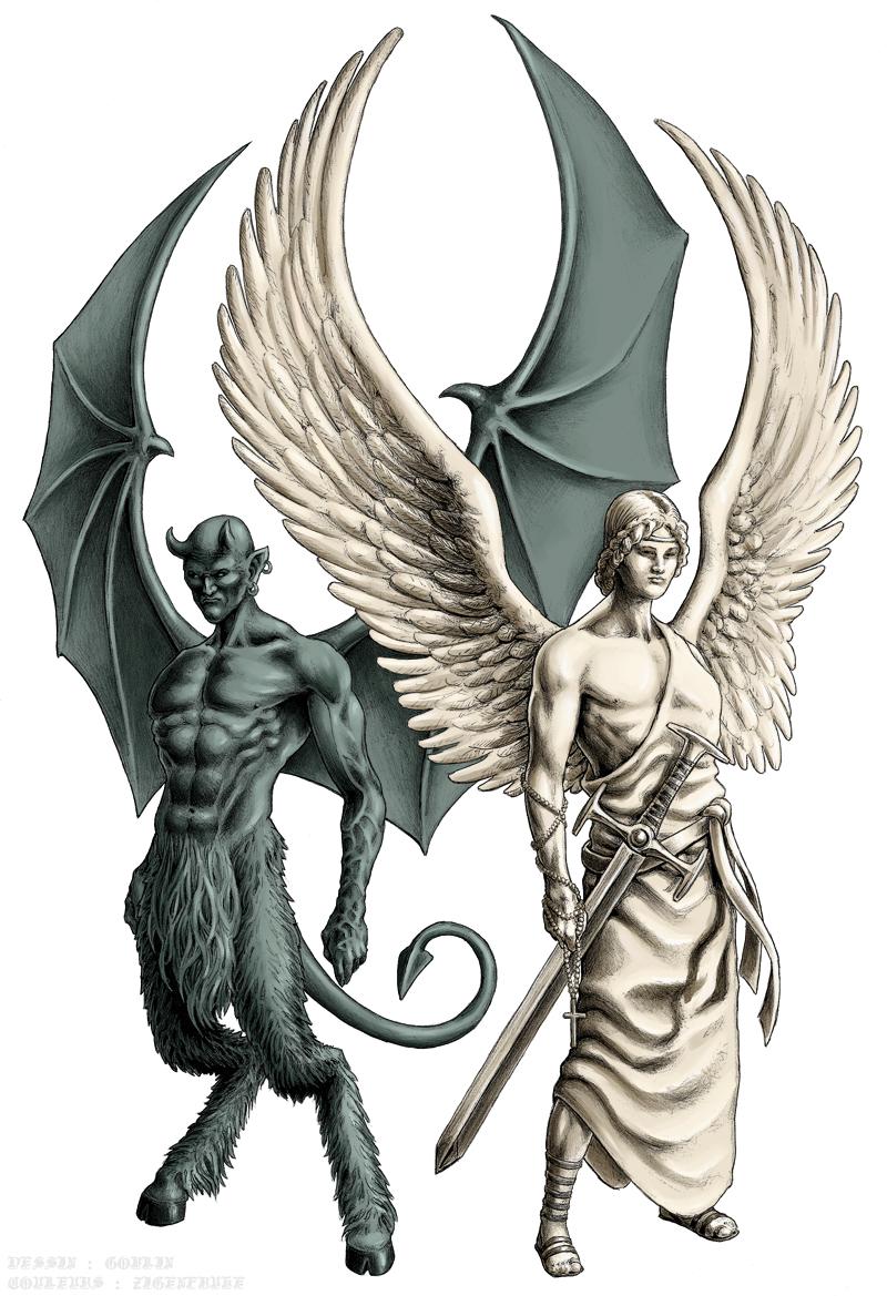 800px - Dessin ange demon ...