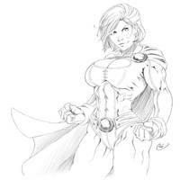 Powergirl ink