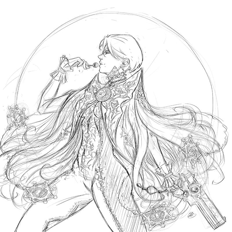 Bayonetta sketch by ZigEnfruke