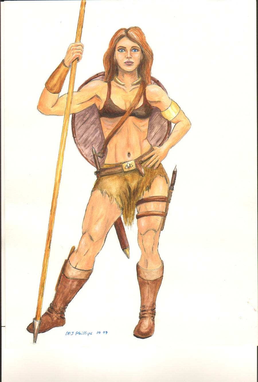Celtic Woman Warrior Art