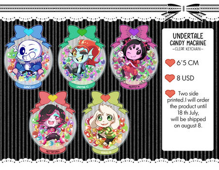 Candy machine undertale (clear keychain)