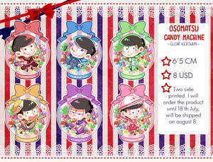 Osomatsu candy machine( clear keychain) Pre-order!