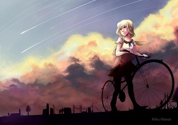 Starfall in summer by RikkuHanari