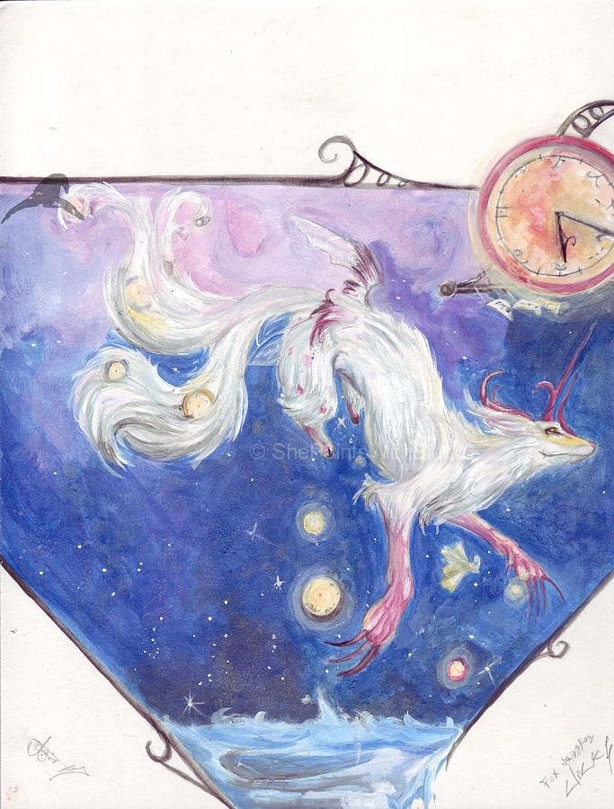 Fox Juggling Clocks-contest by ShePaintsWithBlood