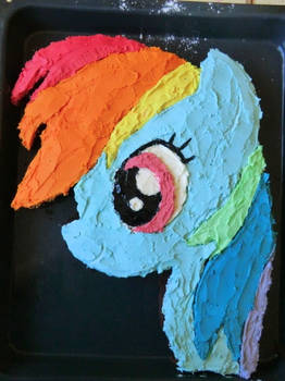 Rainbow Dash cake :3 by nadiki
