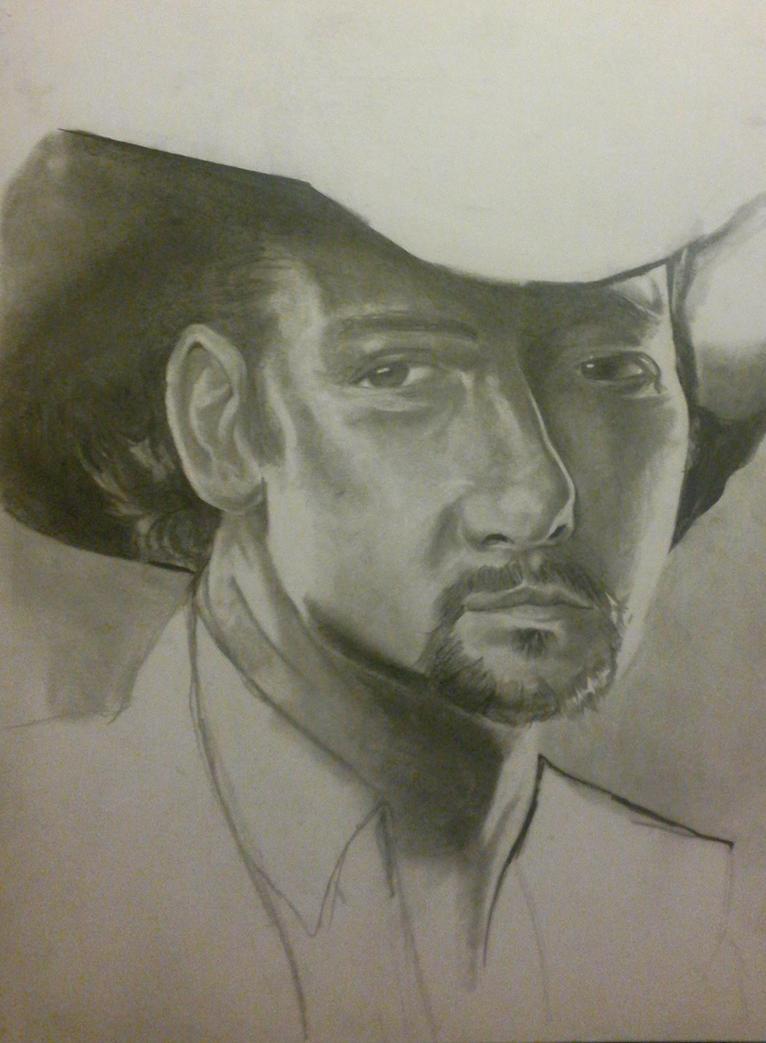 Tim McGraw Portrait by MichiruYami