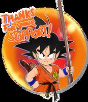 Son Goku DBZ THANKS by MichiruYami