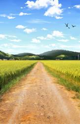 Open Field Background