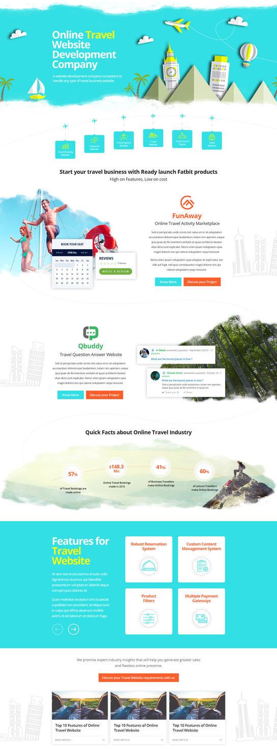 Travel websites page design by gaviju