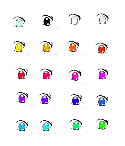 anime eye template for anyone to use by enderloxlover on deviantart