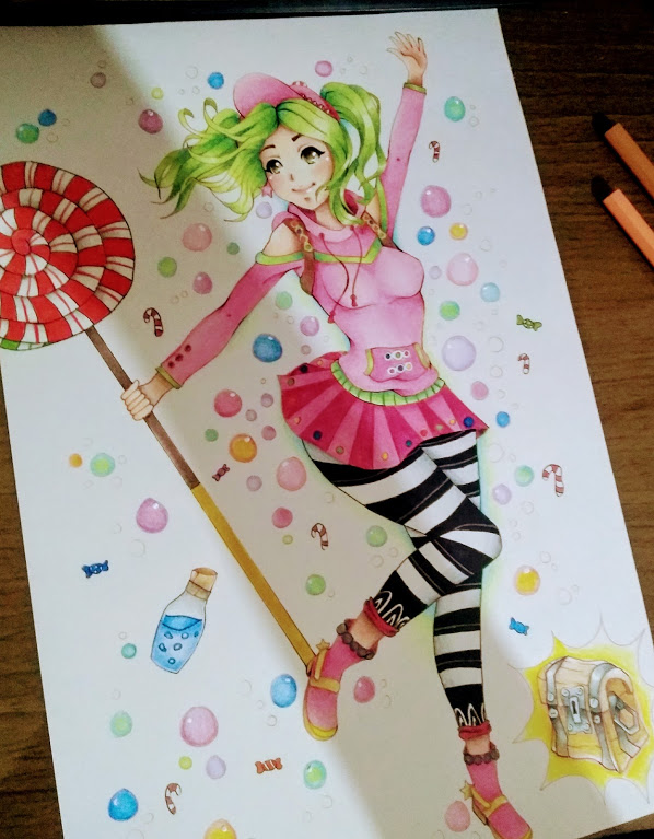 zoey fortnite fanart by aylaabrantes - anime fortnite drawings
