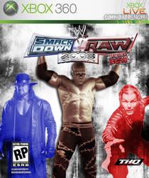 WWE SmackdownvsRaw 2008 Cover by sumwununknown