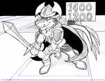 Inktober Day 6 Anime Fight by Artich0ker