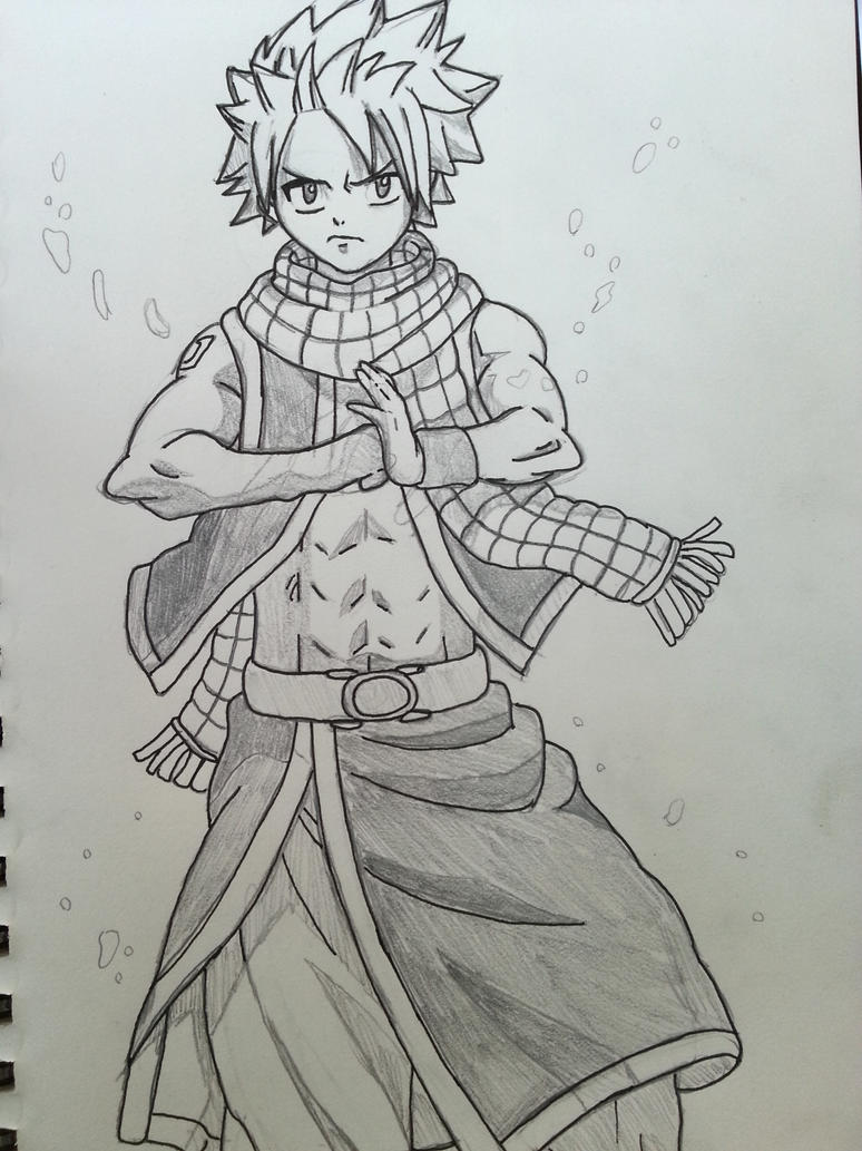 Natsu Dragneel (black and white) by Legendrawing on DeviantArt: legendrawing.deviantart.com/art/Natsu-Dragneel-black-and-white...