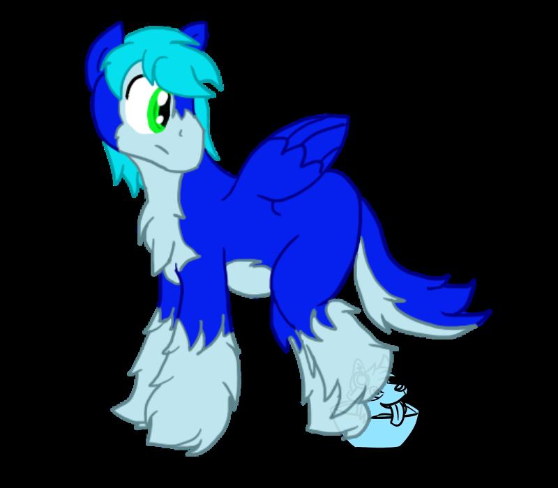 Frosty as MLP Pony by FrostyWolfter