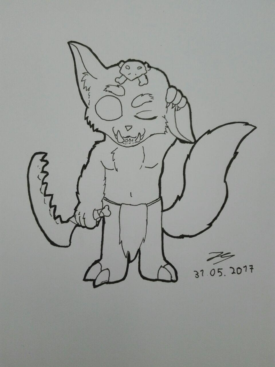 Gnar Lineart by FrostyWolfter