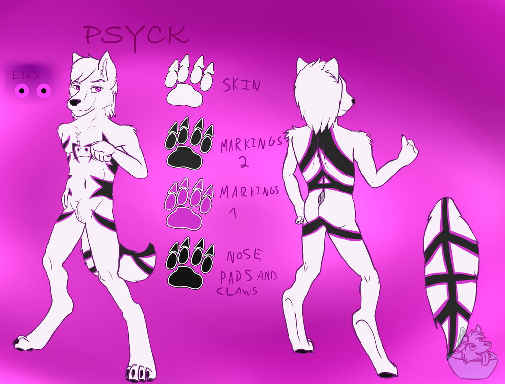.:Gift:. Psyck refference sheet by FrostyWolfter