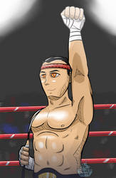 .:Comm:. Muay Thai Champion by FrostyWolfter