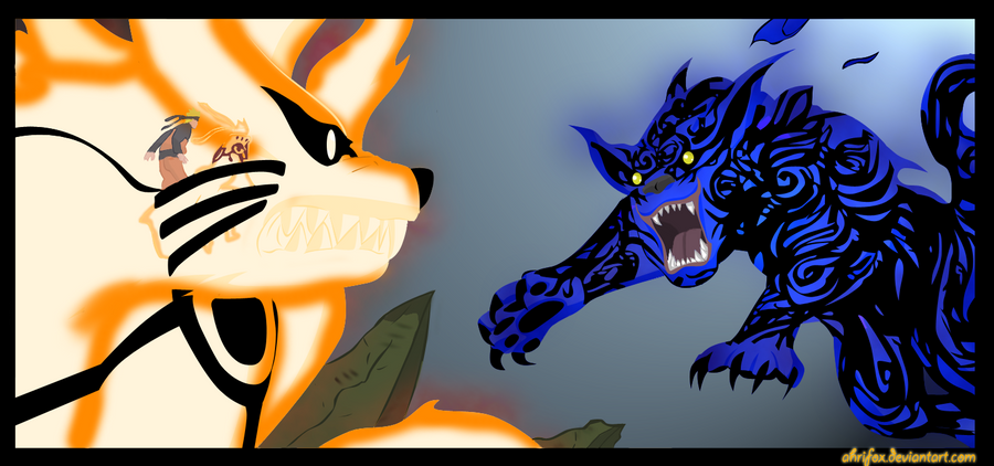 naruto bijuu mode vs M... Underworld Evolution Wallpaper