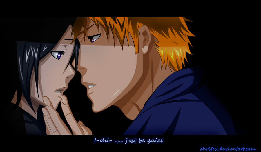 Ichigo and rukia - colored by Ahrifox on DeviantArt