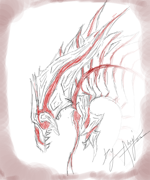 Eternum dragon - sktech by Ahrifox