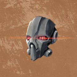 robot head by alexliuzinan