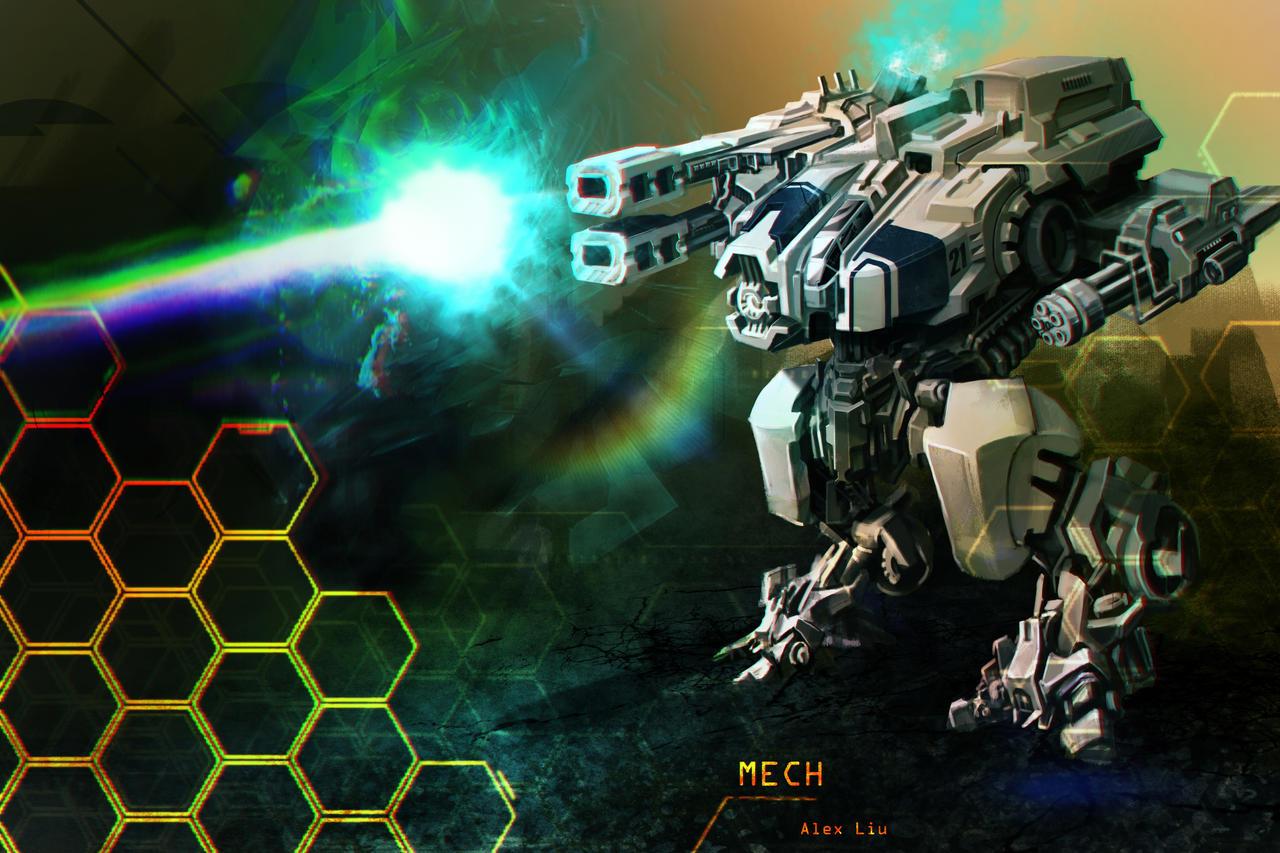 Mech Concept by alexliuzinan