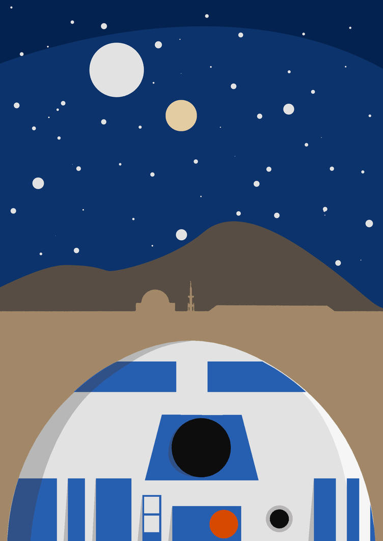 R2D2 Star Wars Poster By Sinhar97