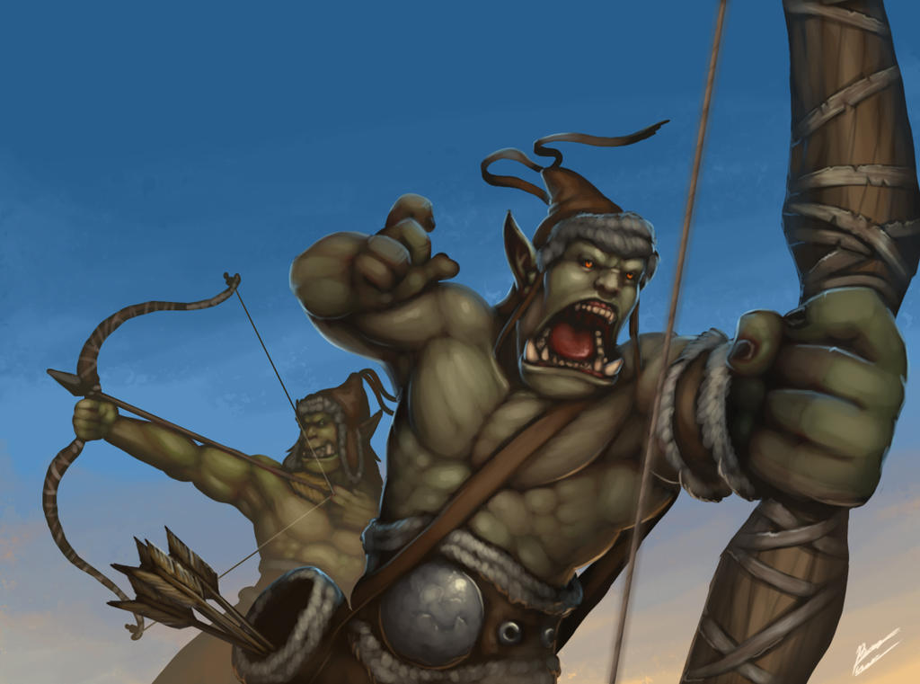 Orcish archers by b-cesar