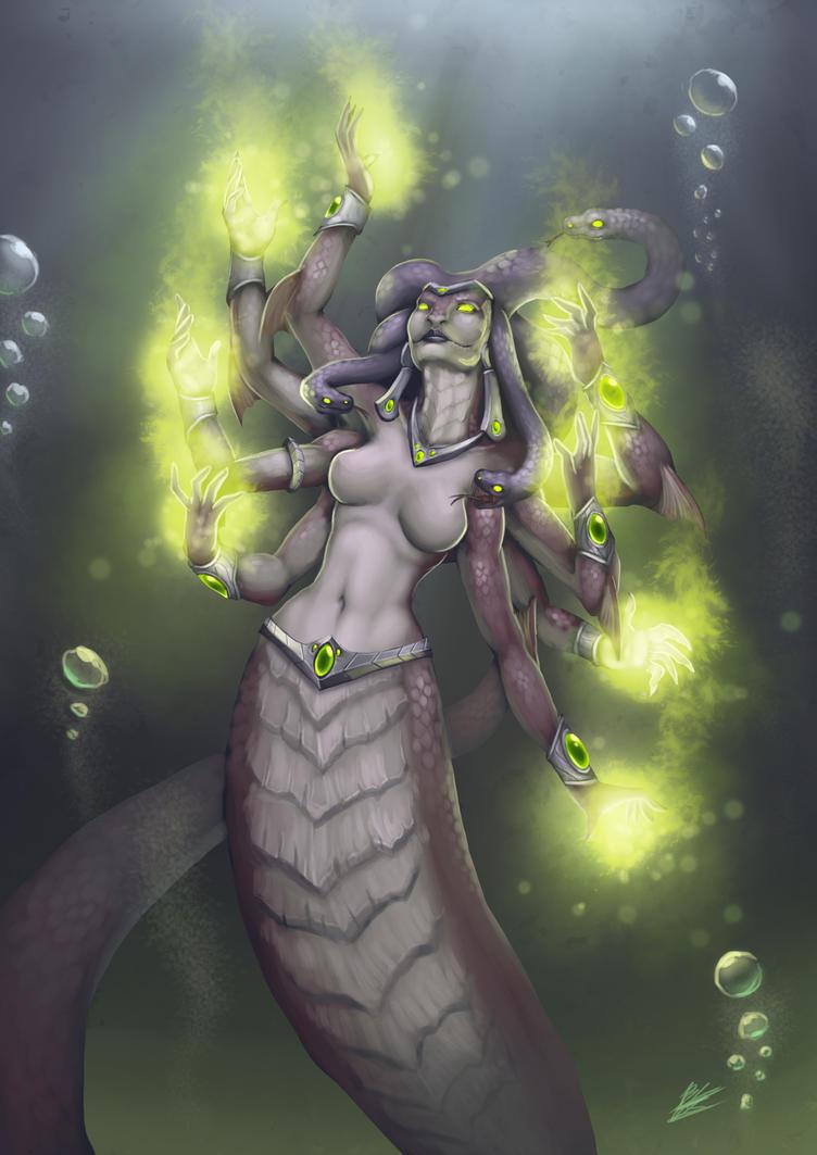 Warcraft tribute - Queen Azshara by b-cesar