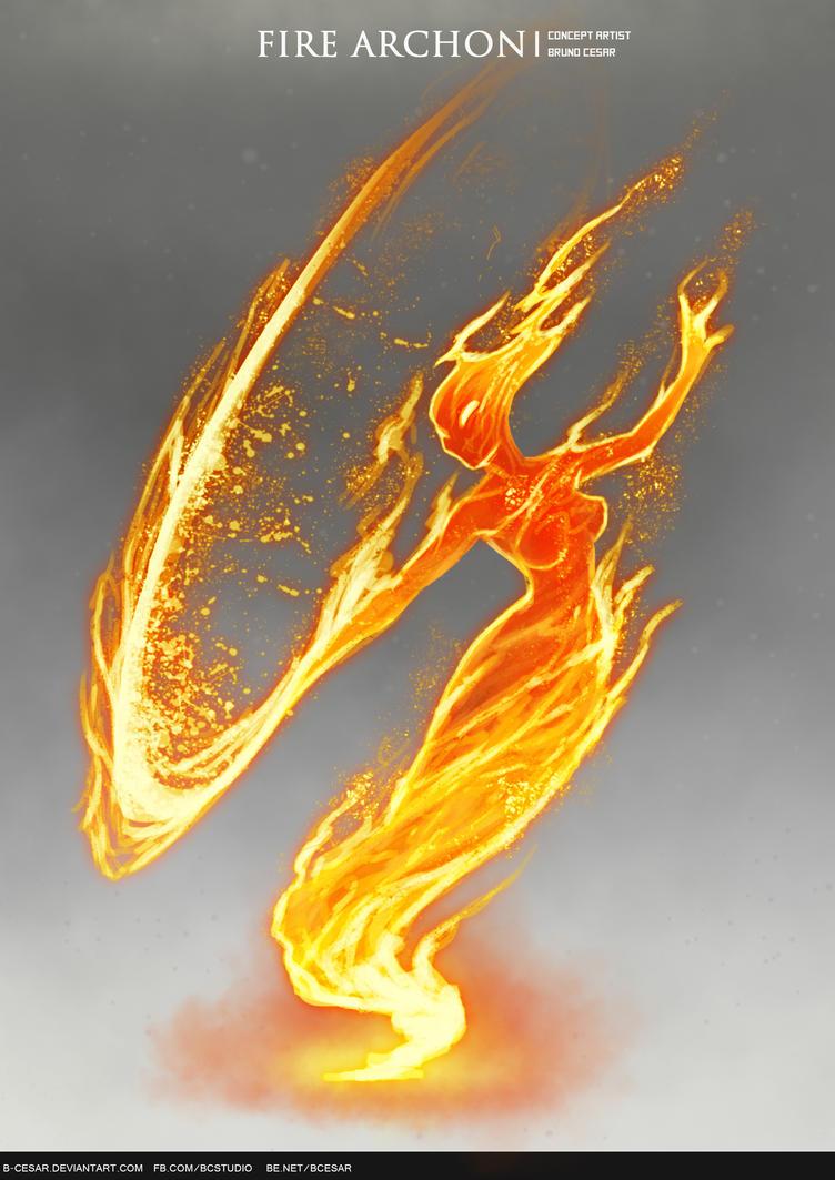 Fire Archon by b-cesar