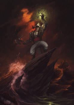 Commission: Dragonborn Warlock