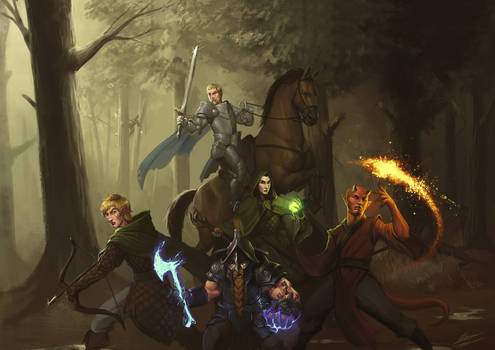 Commission The Sentinels: Heroes of Keywan