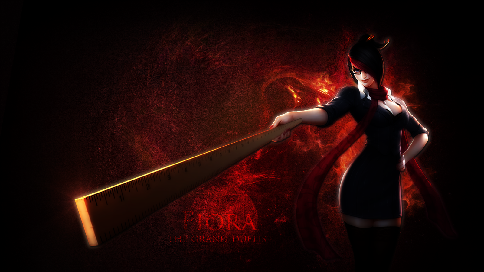 [League of Legends] FanArt - Fiora wallpaper by xMentos on ...