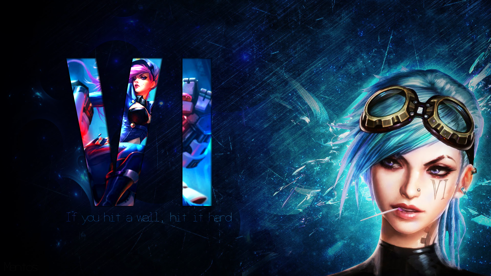 [League of Legends] FanArt - Vi wallpaper by xMentos on ...