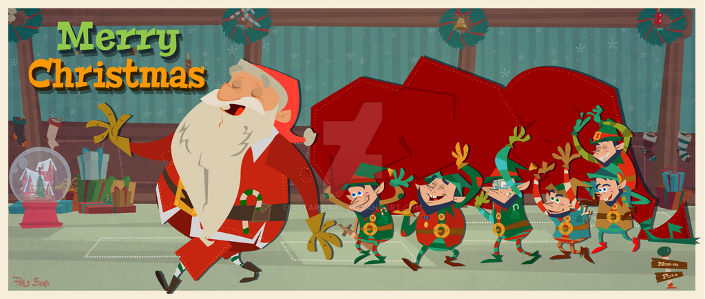 ho ho ho merry christmas by altarisart - Hohoho Merry Christmas