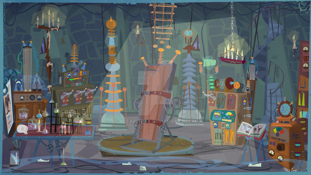 Frankenstein Laboratory by altarisart