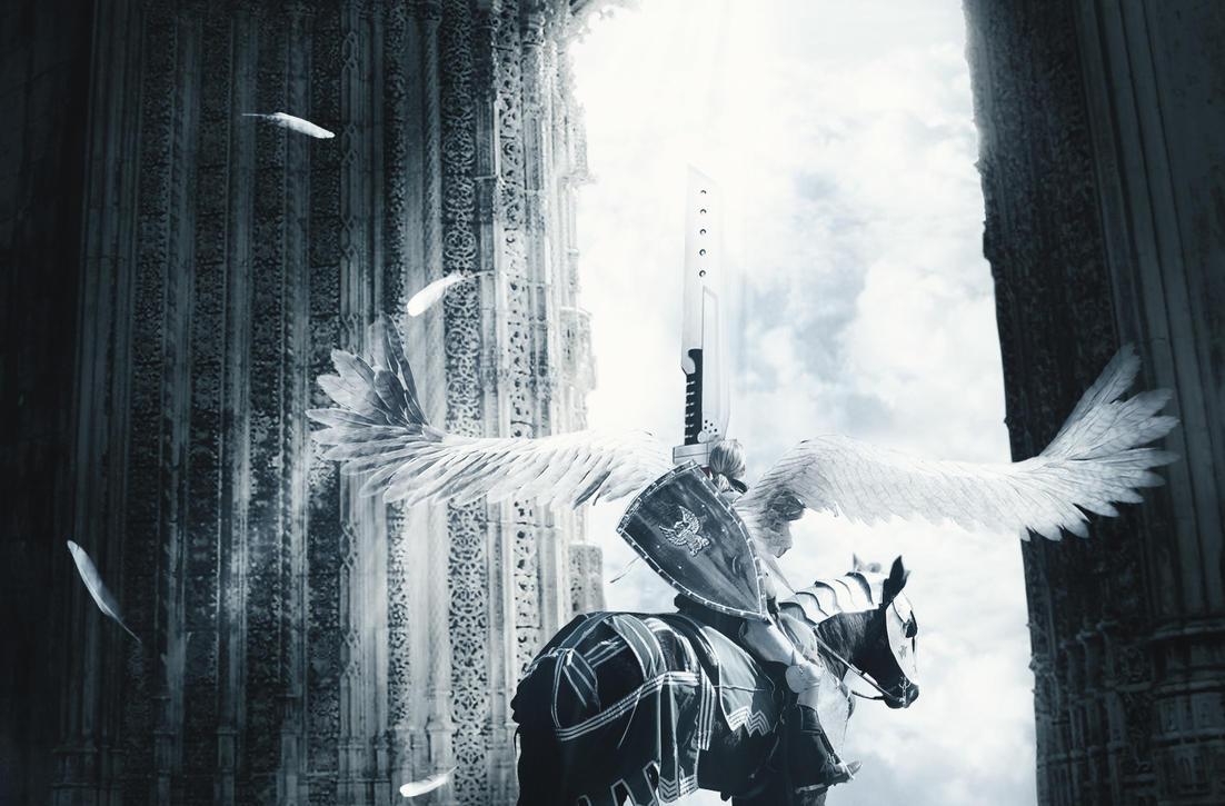 ascending knight wallpaper by lokahore on deviantart