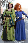Merida and Elinor ~ Brave by Pandore11