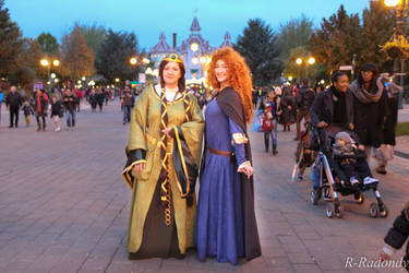 Merida and Elinor at Disneyland