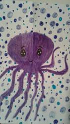 Purple Octopus by SkeletonAsh620