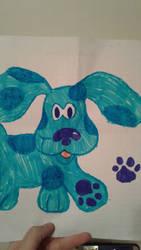 Blues Clues Blue the dog by SkeletonAsh620