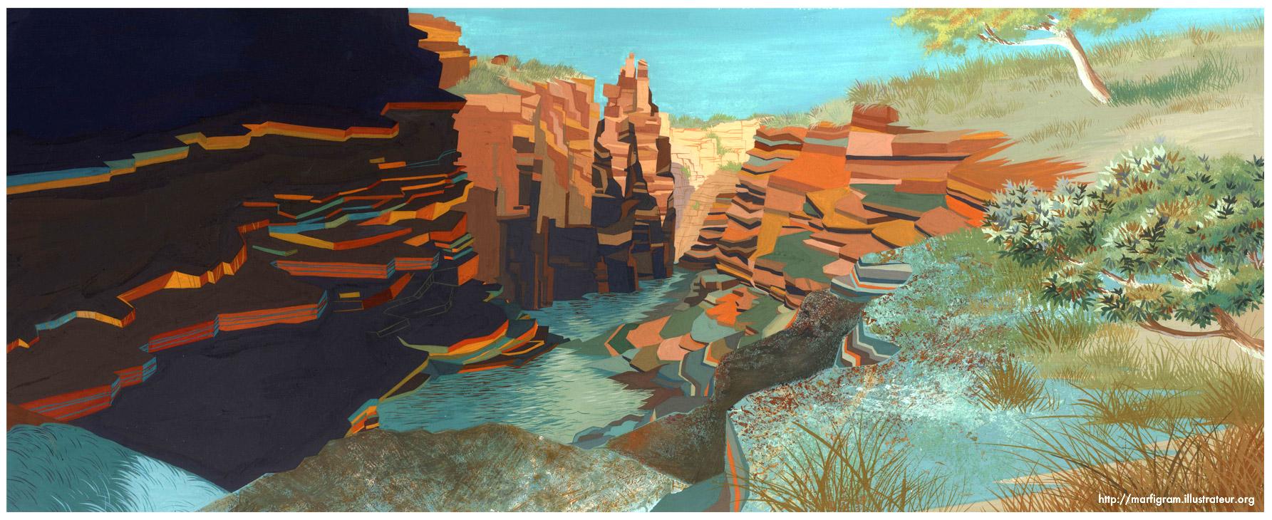 Joffre Falls (Australia) by Marfigram