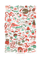 Monsters serigraphy